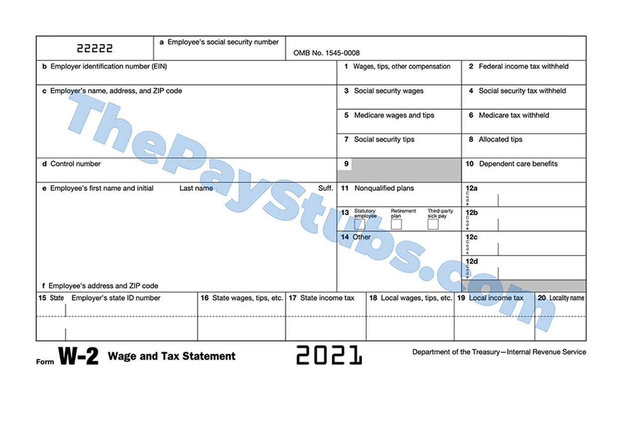 form w-2 sample | ThePayStubs